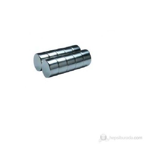 Neodyum Mıknatıs Silindir D13x10 mm (4'lü Paket)