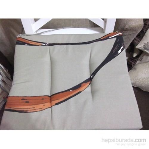 Yastıkminder Koton Yeşil Ağaç Desen Sandalye Minderi