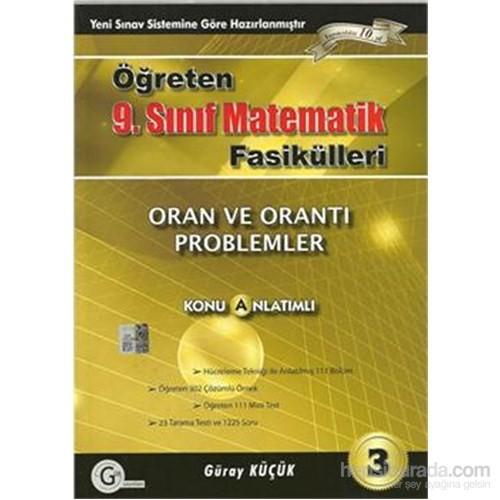 Gür Öğreten 9.Sınıf Matematik Fasikülleri 3 Oran Orantı Problemler Konu Anlatımlı