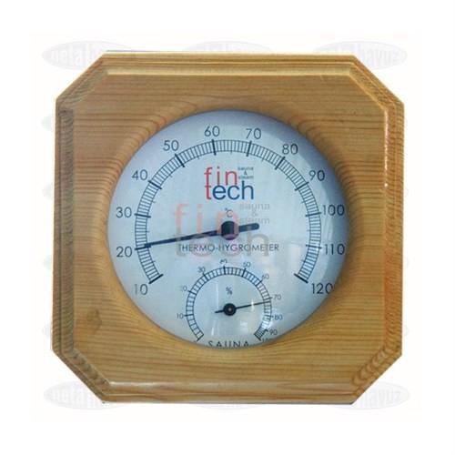 Fıntech Sauna Ahşap Hıgrometre Termometre Kombine