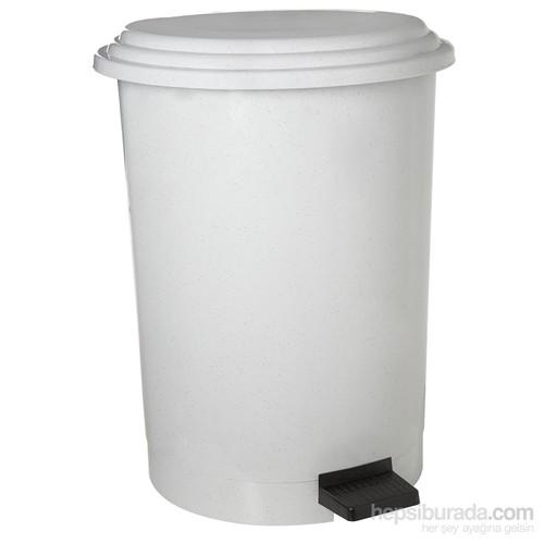Dayco Plastik Pedallı Çöp Kovası 40 Lt Beyaz