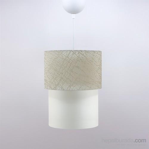 Crea Lighting Doubleshade Small Sarkıt(20Cm)/File/Sütlü Kahve