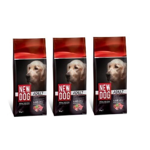 New Dog Kuzu Etli & Pirinçli Yetişkin Köpek Maması 15 Kg X 3 Lü Paket (45 Kg)