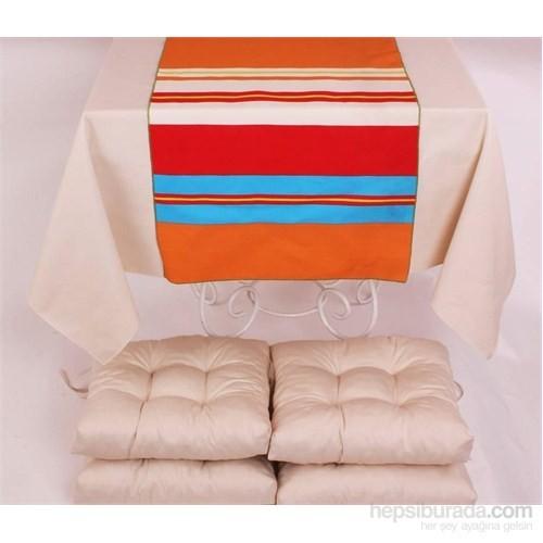 Yastıkminder Polyester Kemik 4 Lü Minder Seti