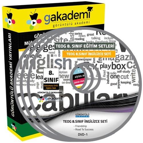 Görüntülü Akademi Teog 8. Sınıf İngilizce Görüntülü Eğitim Seti (9 Dvd)