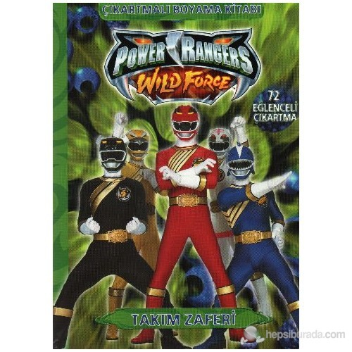 Power Rangers Takım Zaferi çıkartmalı Boyama Kitabı Fiyatı
