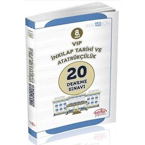 Editör Yayınları 8. Sınıf Teog Tc İnkılap Tarihi Ve Atatürkçülük 20 Deneme Sınavı