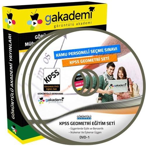 Görüntülü Akademi Kpss Geometri Görüntülü Eğitim Seti 12 Dvd