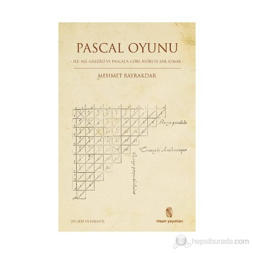 Pascal Oyunu - (Hz. Ali, Gazzali ve Pascal'a Göre Ahirete Zar Atmak)