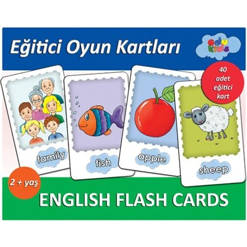 Egitici Oyun Kartlari English Flash Cards 2 Yas Fiyati