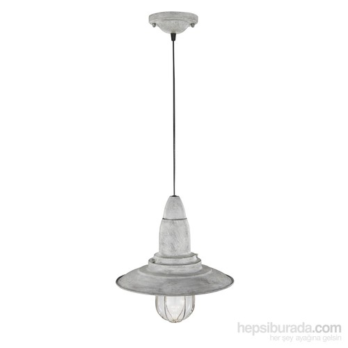 Trio Lighting Vintage Fisherman Sarkıt Antik Gri