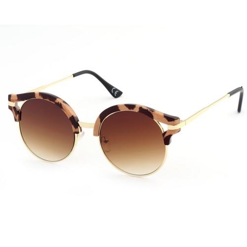 Almera Yeni Sezon Trend Moda Leopar Kahve Güneş Gözlüğü 37032