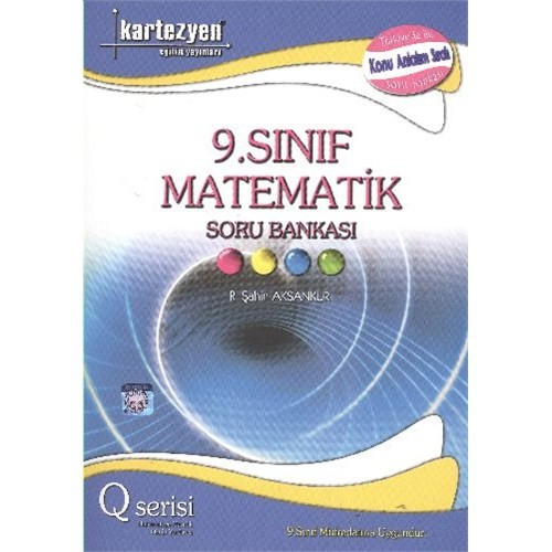 Kartezyen 9. Sınıf Matematik Soru Bankası (Q Serisi) - Serdar Demirci