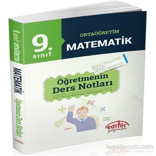 9. Sınıf Ortaöğretim Matematik Öğretmenin Ders Notları