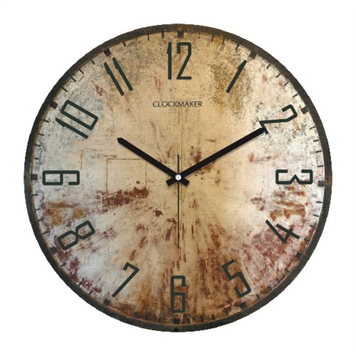 Clockmaker By Cadran Retro Vintage 30X30 Mdf Duvar Saati Cmm51