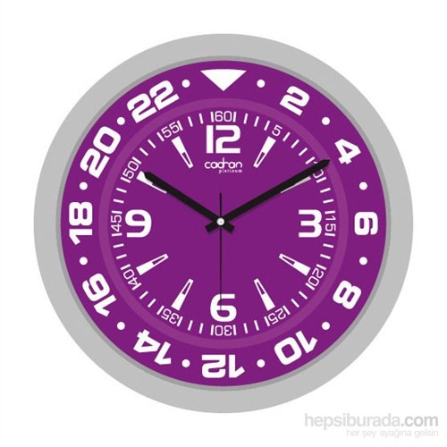 Cadran 200-6 Platinum Duvar Saati Purple Sport