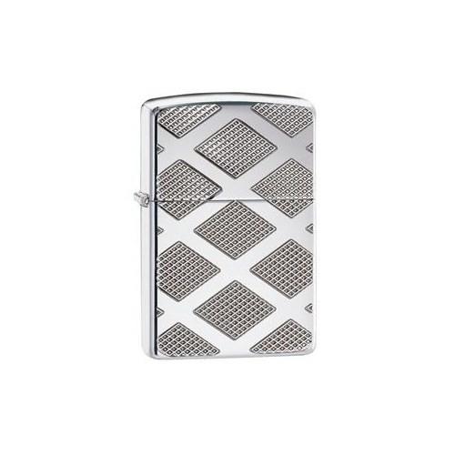 Zippo 167 Carved Chrome Diamond Çakmak