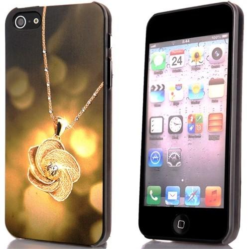 CoverZone İphone 5 - 5S Kılıf Resimli Sert Arka Kapak Necklace