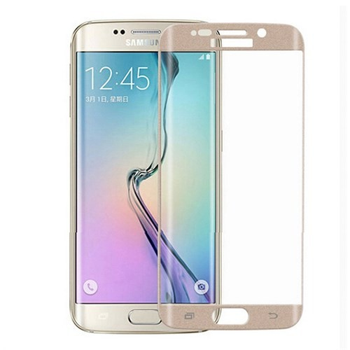 Lopard Samsung Galaxy S6 Edge Gold 3D Kavisli Temperli Ekran Koruyucu