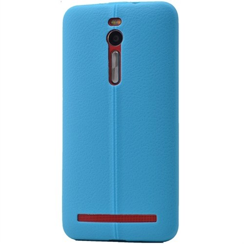 Lopard Asus Zenfone Selfie Zd551kl Kılıf Ribbon İnce Silikon Arka Kapak Mavi