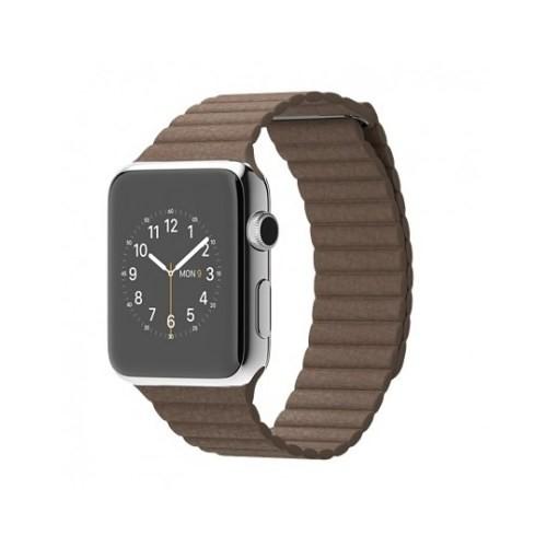 Apple Watch 42 Mm Paslanmaz Çelik Kasa Açık Kahverengi Deri Loop Mj402tu/A (Medium) Akıllı Saat