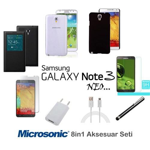 Microsonic Samsung Galaxy Note 3 Neo Kılıf & Aksesuar Seti 8İn1
