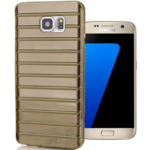 Coverzone Samsung Galaxy S7 Kılıf Flexible Silikon + Cam