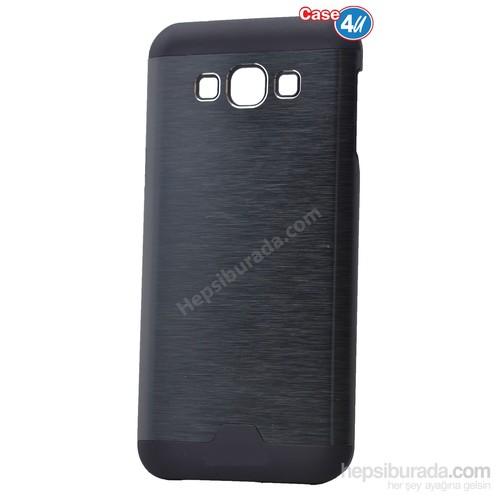 Case 4U Samsung Galaxy A3 Moto Sert Arka Kapak Siyah