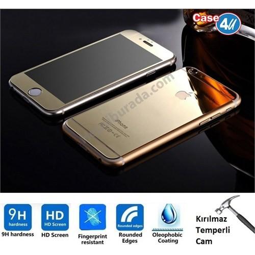 Case 4U Apple İphone 6S Plus Aynalı Ekran Koruyucu Altın