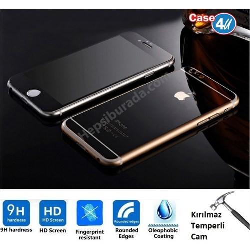 Case 4U Apple İphone 6S Plus Aynalı Ekran Koruyucu Siyah