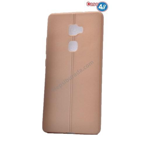 Case 4U Huawei Mate S Desenli Silikon Kılıf Altın