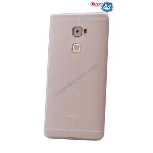 Case 4U Huawei Mate S Desenli Silikon Kılıf Beyaz