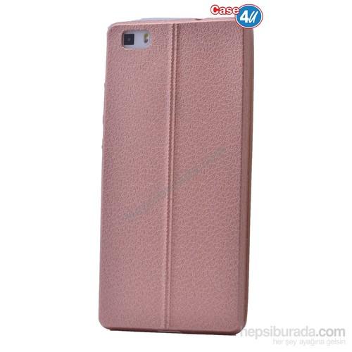 Case 4U Huawei P8 Lite Parlak Desenli Silikon Kılıf Rose Gold