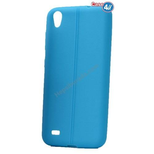 Case 4U Vestel Venus V3 5040 Desenli Silikon Kılıf Mavi