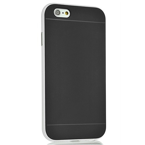 CoverZone İphone 6 Plus Kılıf Hybrid Çift Katmanlı Beyaz
