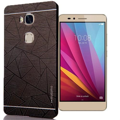 Huawei Honor 5X Kılıf Prizma Sert Motomo Siyah