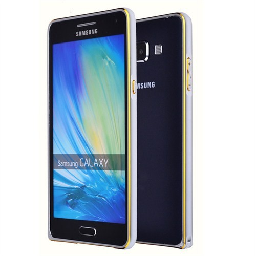 Microsonic Samsung Galaxy E7 Thin Metal Çerçeve Kılıf Gümüş