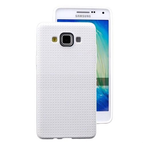 Microsonic Dot Style Silikon Samsung Galaxy A7 Kılıf Beyaz