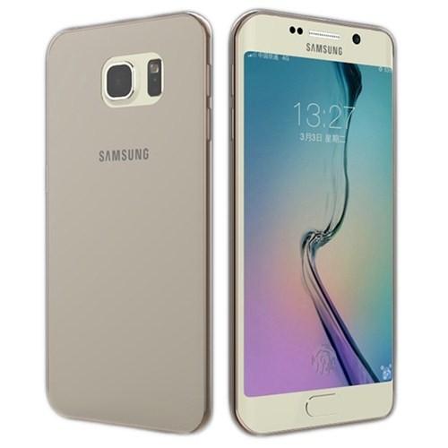 Microsonic Transparent Soft Samsung Galaxy S6 Edge Kılıf Siyah