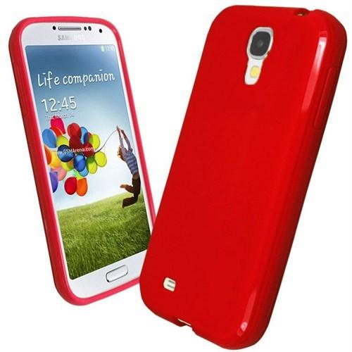Microsonic Glossy Soft Kılıf Samsung Galaxy S4 İ9500 Kırmızı
