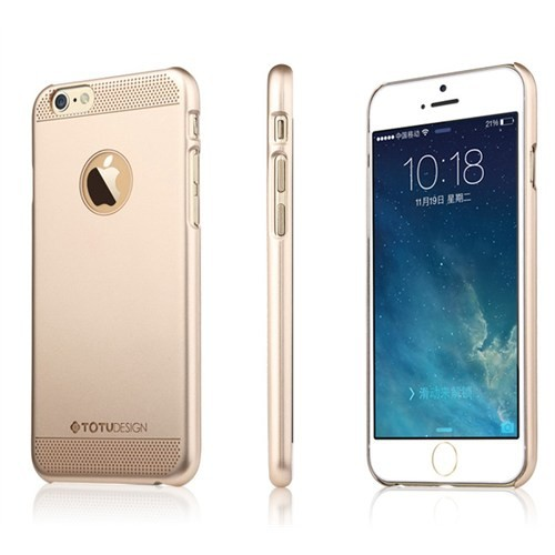 TotuDesign Apple iPhone 6S Pus Kılıf Gold Glamor Queen Ambulatory Series