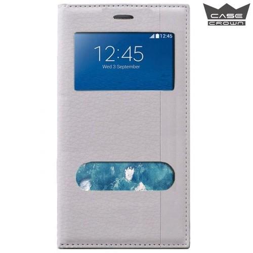 CaseCrown General Mobile 4G Android One Gizli Mıknatıslı Çift Pencereli Magnum Kılıf Beyaz