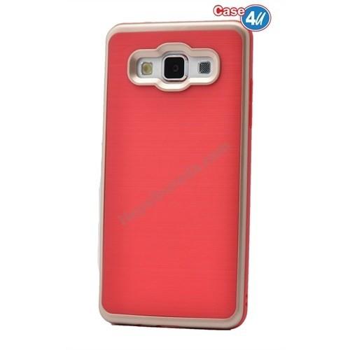 Case 4U Samsung Galaxy A8 Infinity Koruyucu Kapak Kırmızı/Altın