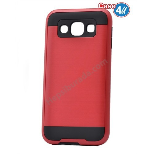 Case 4U Samsung Galaxy S3 Korumalı Kapak Kırmızı