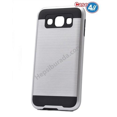 Case 4U Samsung Galaxy A5 Korumalı Kapak Gümüş
