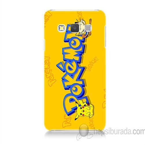 Teknomeg Samsung Galaxy A7 Kapak Kılıf Pokemon Baskılı Silikon