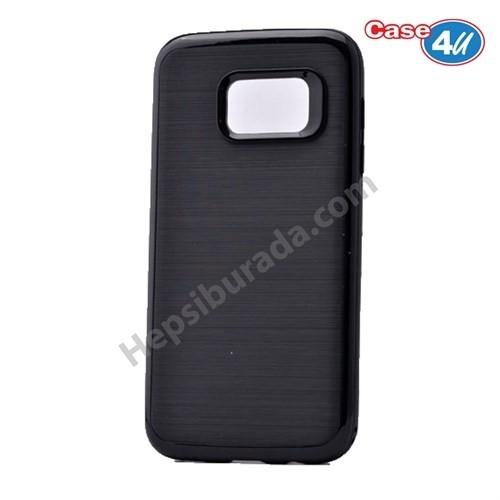 Case 4U Samsung Galaxy S7 Infinity Koruyucu Kapak Koyu Siyah
