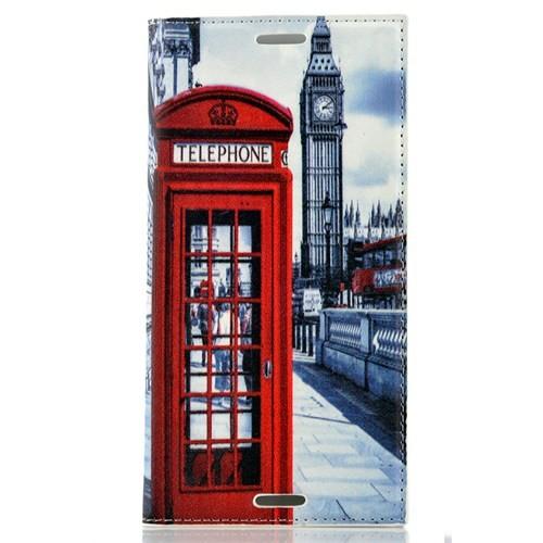 CoverZone Sony Xperia M4 Aqua Kılıf Kapaklı Londra Telefon Kulübesi