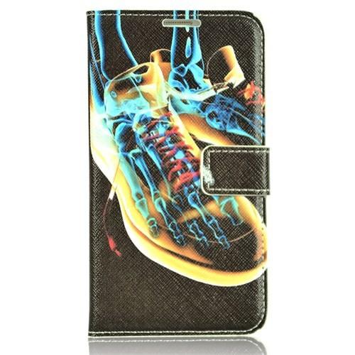 CoverZone Samsung Galaxy Note 3 Neo Kılıf Kapaklı X-Ray Ayakkabı