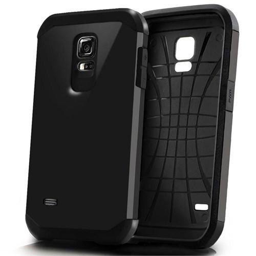 Microsonic Slim Fit Dual Layer Armor Samsung Galaxy S5 Mini Kılıf Siyah